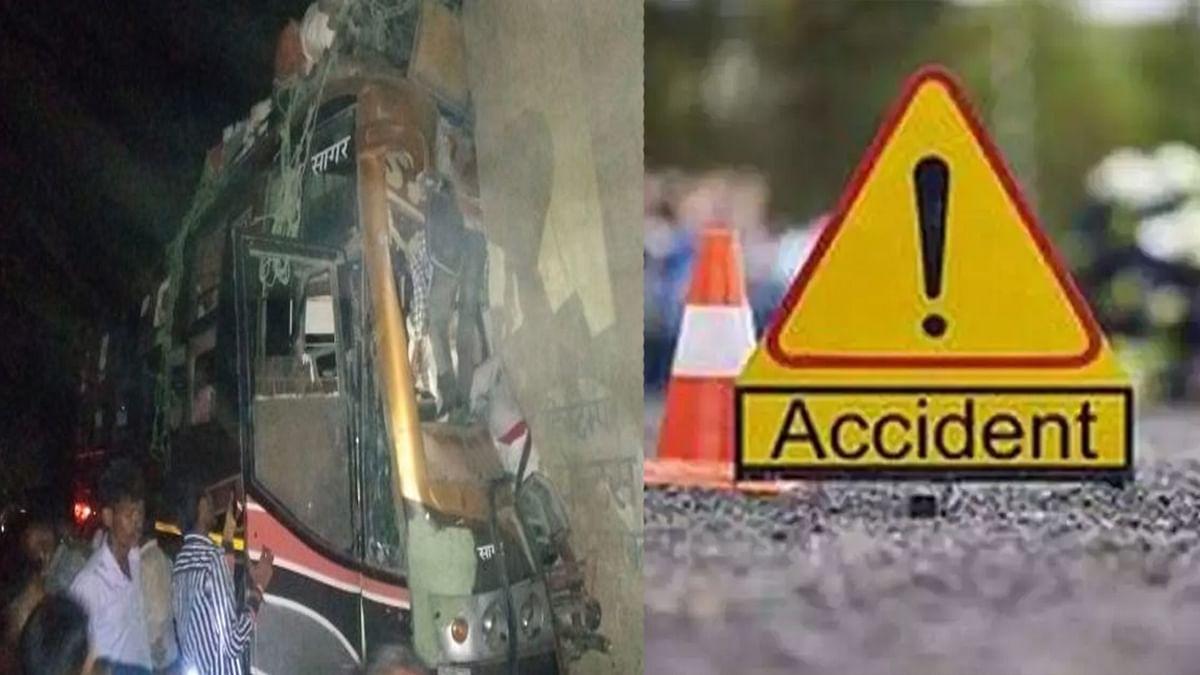 जबलपुर में हादसा: बस पलटने से एक दर्जन से ज्यादा यात्री घायल, मची अफरा-तफरी