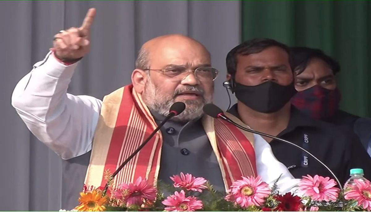 असम में अमित शाह- जनता को बताए विधानसभा चुनाव के लिए आपके पास हैं 2 विकल्प