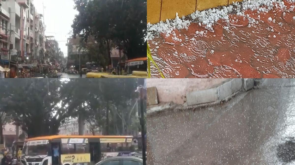 अचानक बदला मौसम का मिजाज: MP के कई जिलों में ओलावृष्टि के साथ जोरदार बारिश