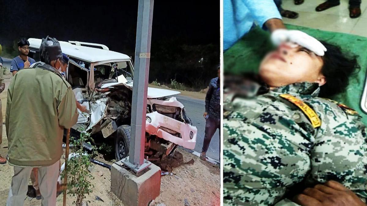 ट्रैक्टर ने पुलिस की गाड़ी को मारी टक्कर, थाना प्रभारी गंभीर रूप से घायल