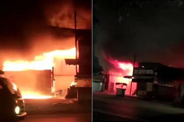 हैदराबाद : एक गोदाम और छह दुकानों में उठी भीषण आग की लपटें