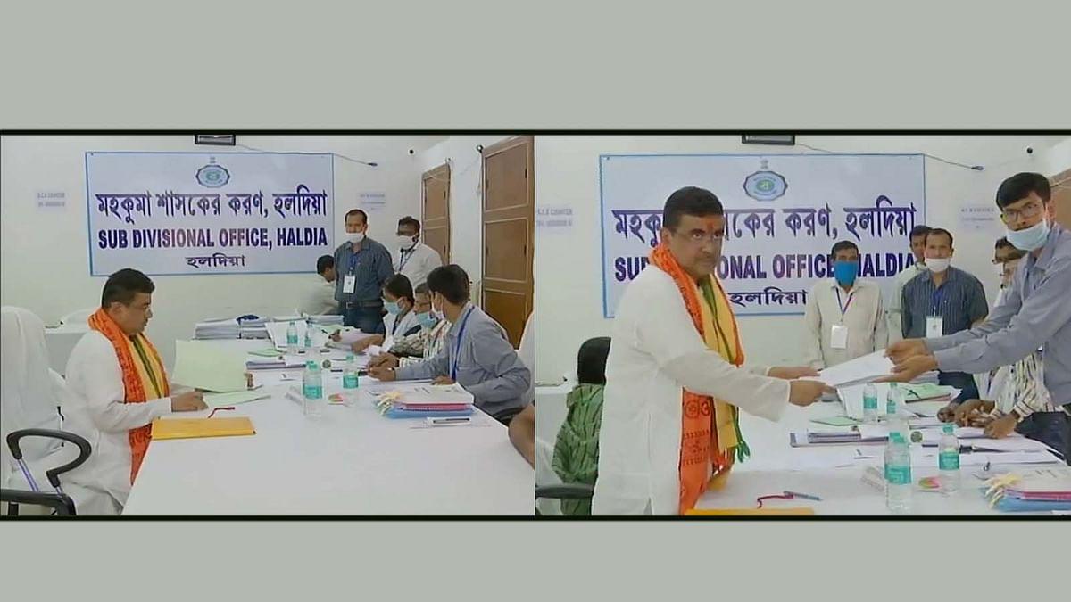 बंगाल में नंदीग्राम सीट हाई प्रोफाइल-आज BJP प्रत्याशी शुवेंदु ने भरा नामांकन