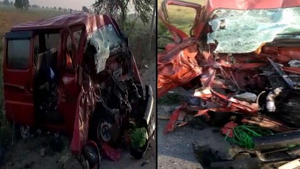 भिंड में हुआ हादसा: अज्ञात वाहन ने वैन को मारी टक्कर- 4 की दर्दनाक माैत