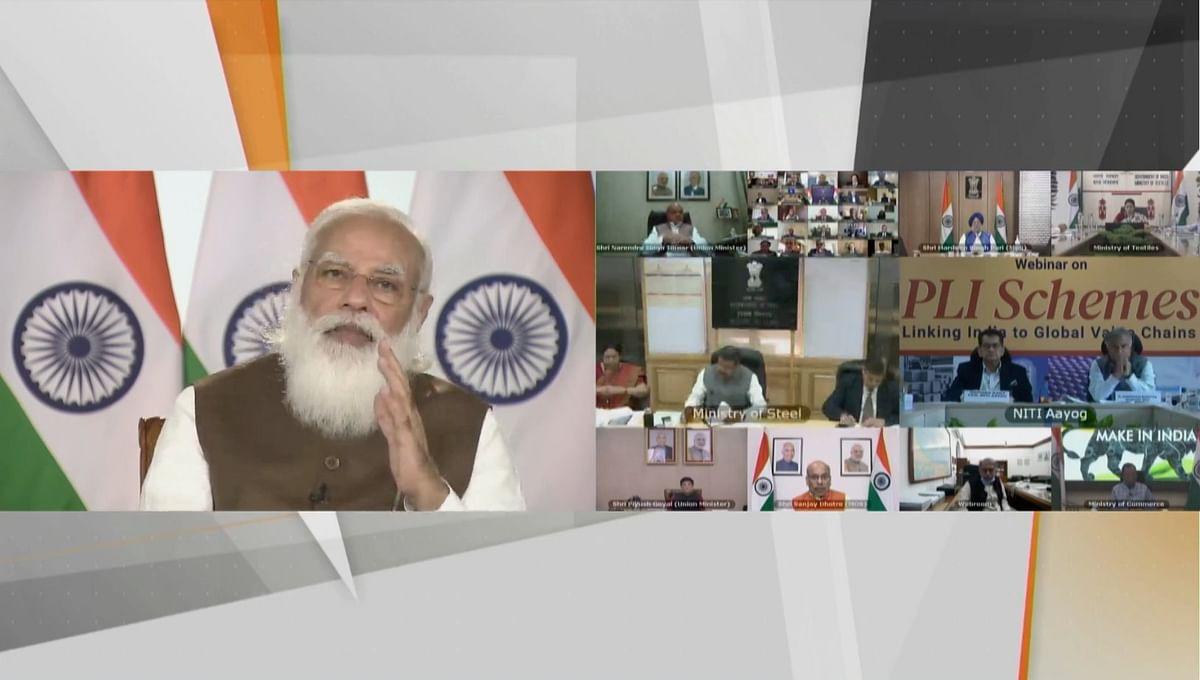 PLI वेबीनार में बोले PM मोदी- हमें कई क्षेत्रों में कई अभिनव सुझाव मिले