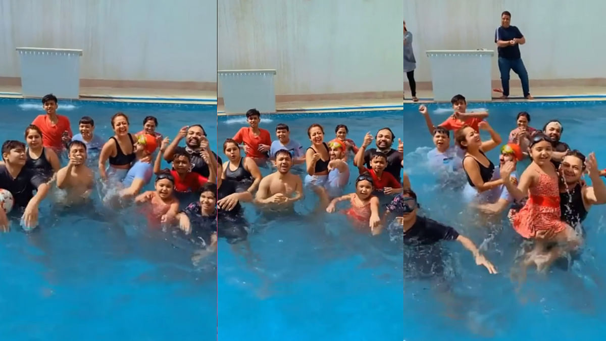 शादी के बाद नेहा कक्कड़ की पहली होली, पूल में हसबैंड संग जमकर किया डांस
