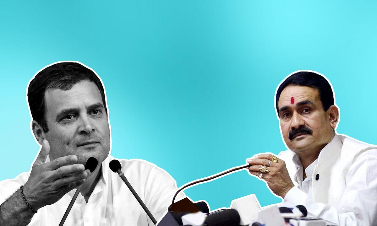 कांग्रेस नेता राहुल गांधी पर मंत्री नरोत्तम मिश्रा का तंज