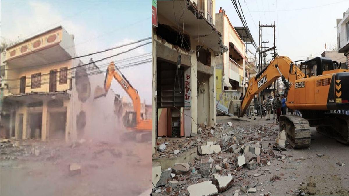 देवास: माफिया की दबंगई पर चला प्रशासन का बुलडोजर, शिवा का ढहाया आलीशान मकान