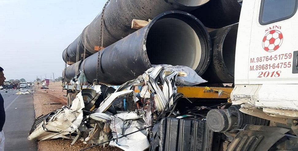 राजस्थान में ट्रक व मिनी बस की टक्कर से भीषण हादसा-CM गहलोत ने जताया शोक