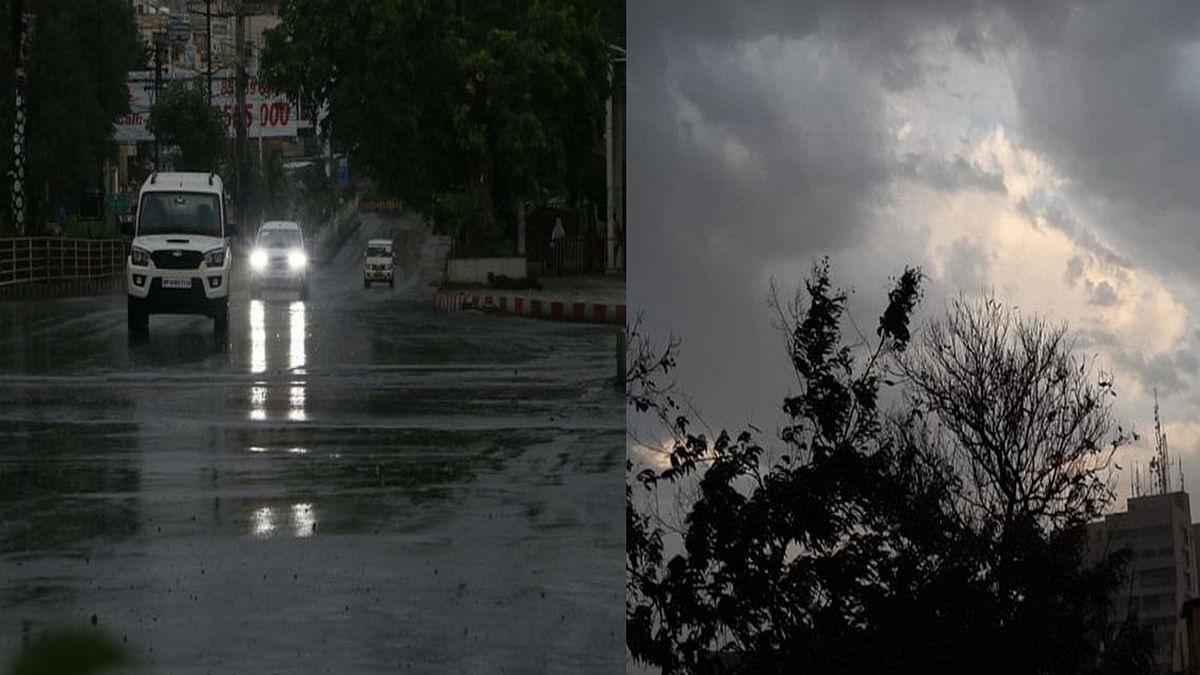 भोपाल के कुछ हिस्सों में बादल छाने के बाद हुई बारिश, हल्की बारिश के आसार
