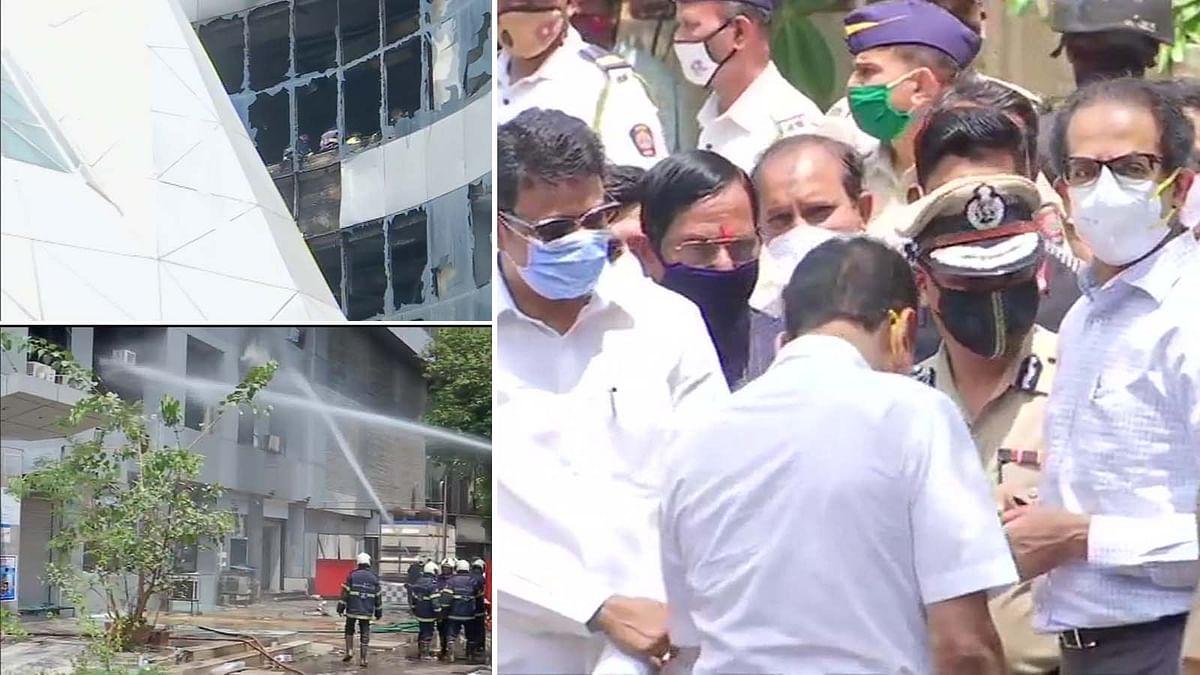महाराष्ट्र: मुंबई के सनराइज अस्पताल में भभकी आग- CM ठाकरे पहुंचे अस्पताल