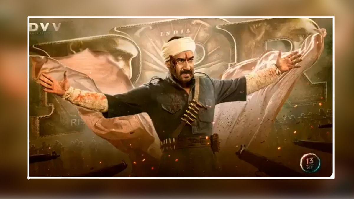 अजय देवगन के बर्थडे पर फैंस को तोहफा, RRR से एक्टर का फर्स्ट लुक रिलीज