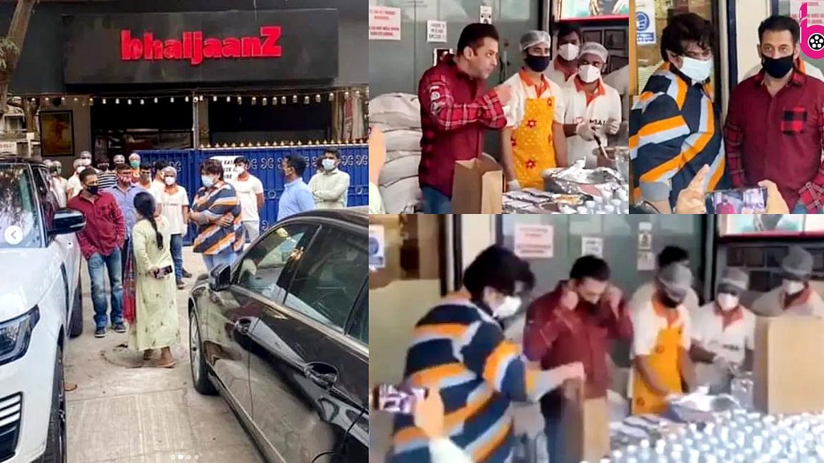 सलमान खान ने फ्रंटलाइन वर्करों को भेजे खाने के पैकेट, वायरल हुआ वीडियो