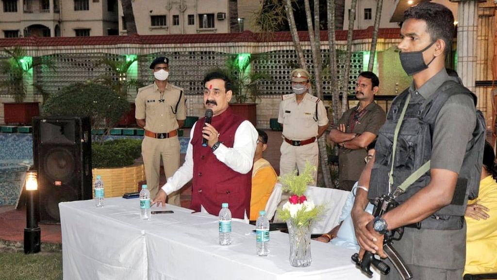प्रदेश मंत्री नरोत्तम मिश्रा का विपक्ष पर वार, BJP करती है विकास की राजनीति