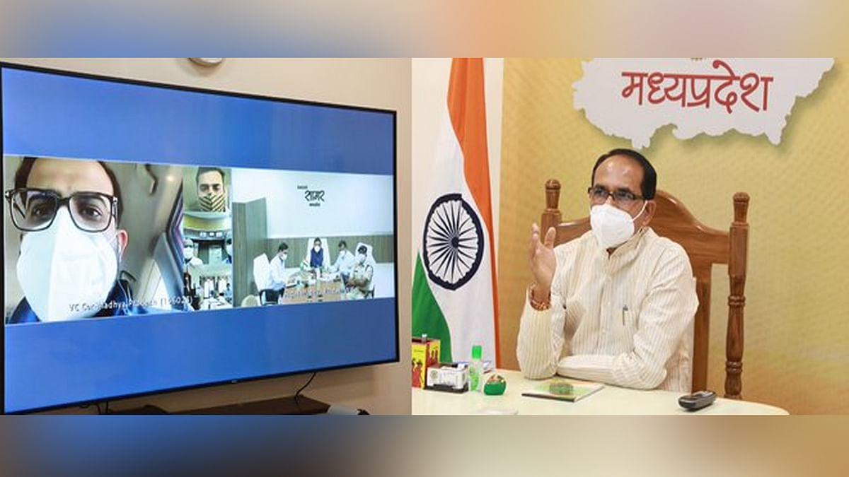 बीना में बन रहे मेकशिफ्ट हॉस्पिटल के संबंध में CM ने अधिकारियों से की चर्चा