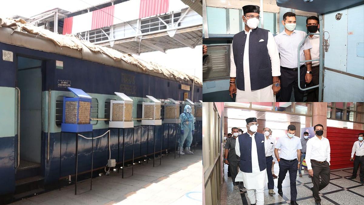 भोपाल स्टेशन पहुंचे विश्वास सारंग और कलेक्टर, व्यवस्थाओं का लिया जायजा