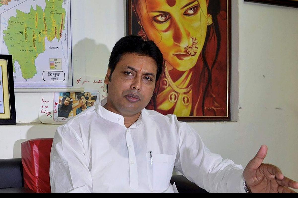 त्रिपुरा के CM बिप्लब देब को कोरोना ने जकड़ा, रिपोर्ट आई पॉजिटिव