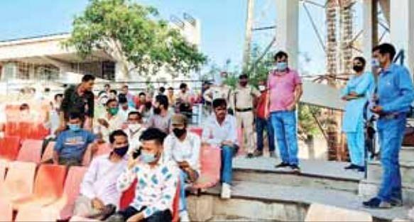 बिना मास्क के पकड़े गए 91 लोगों को भेजा खुली जेल