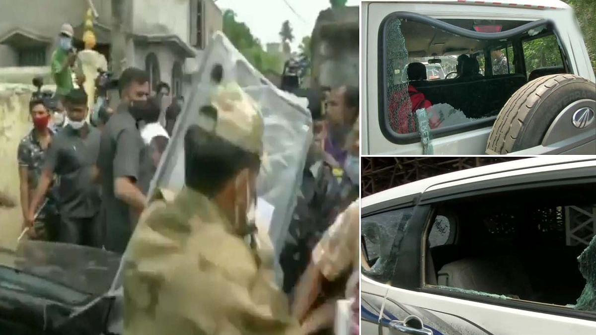 बंगाल के हुगली में मतदान के बीच हिंसा व झड़प- BJP कैंडिडेट की कार पर हमला