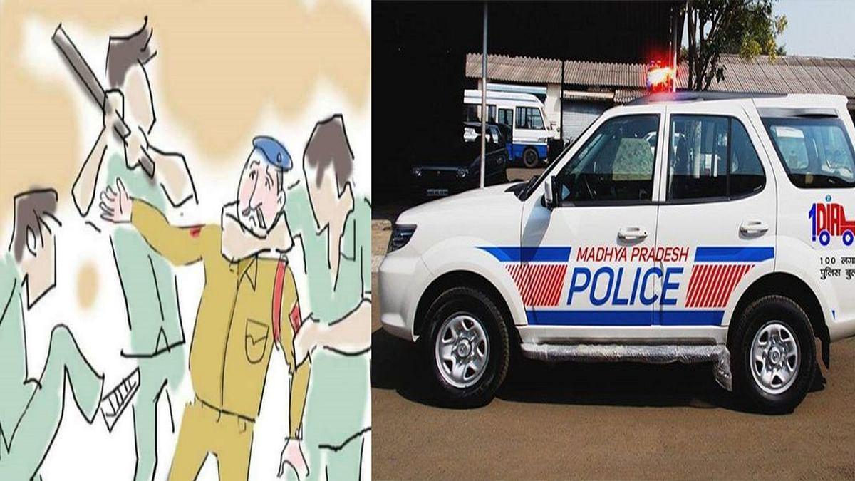 भोपाल: देर रात एफआरवी पुलिस पर बदमाशों ने किया हमला, आरोपियों की तलाश जारी