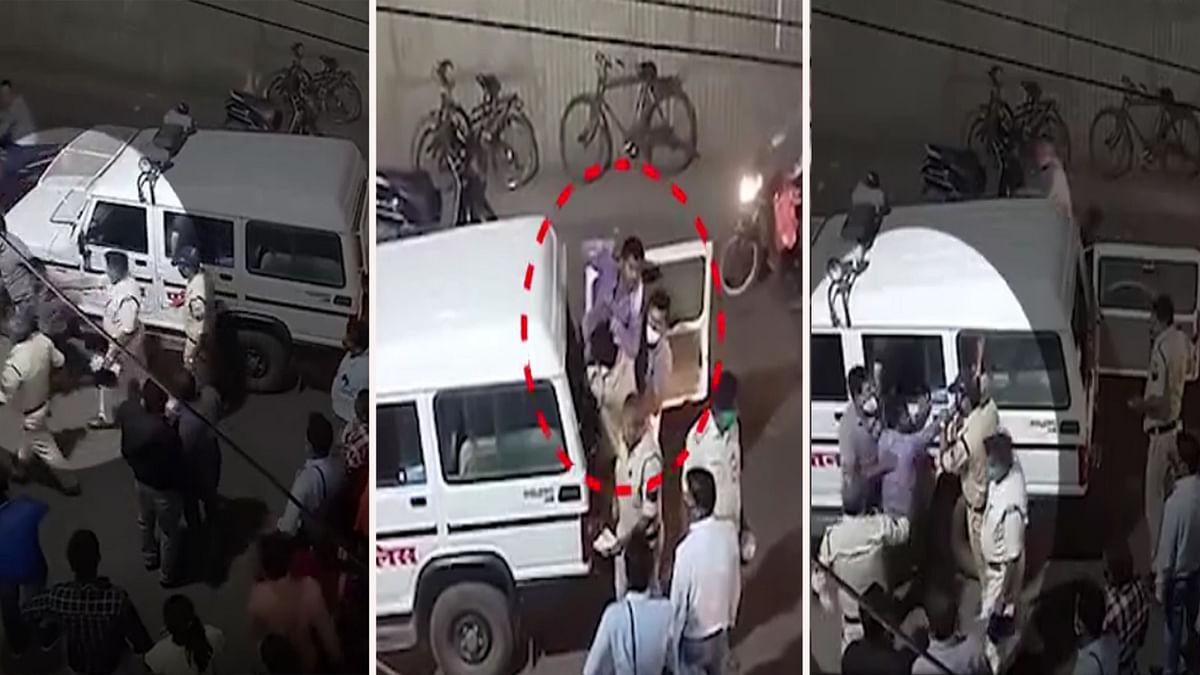 सतना में पुलिस की बर्बरता! मास्क न पहनने पर युवक को घसीट-घसीट कर पीटा