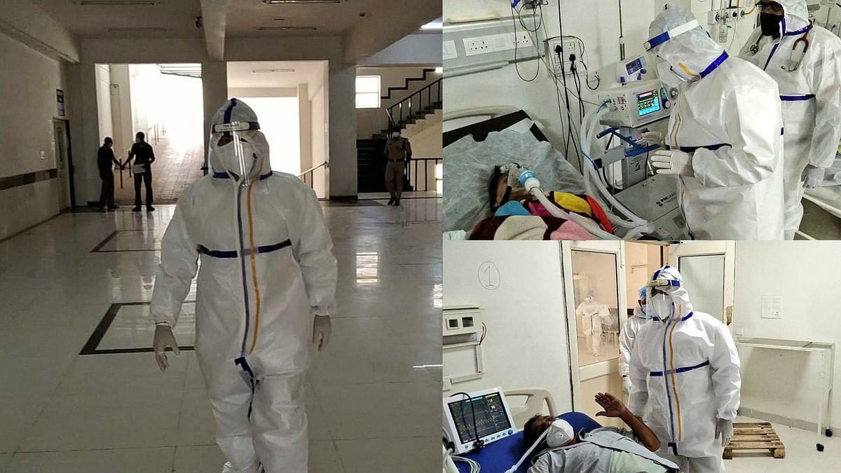 दतिया: PPE किट पहनकर अस्पताल पहुंचे डॉ. मिश्रा, व्यवस्थाओं का लिया जायजा