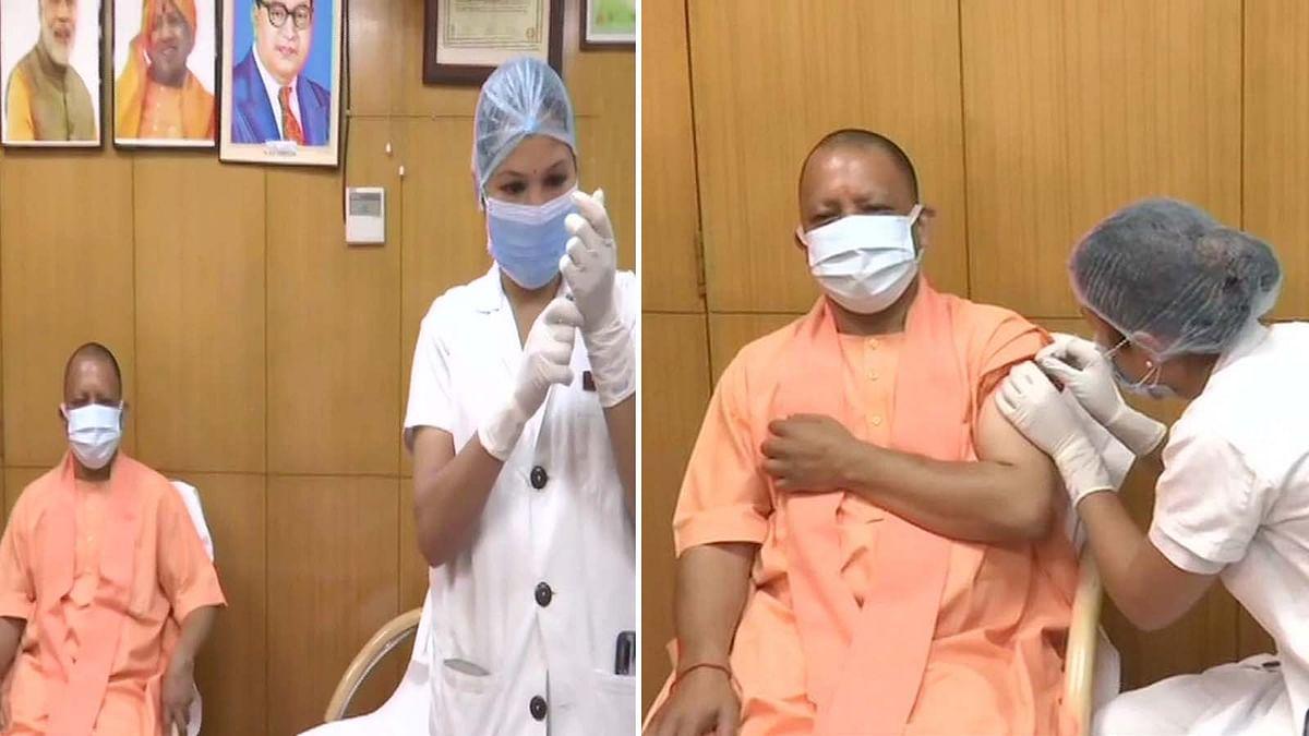 उत्तर प्रदेश के CM योगी ने लगवाई कोविड-19 वैक्सीन की पहली डोज