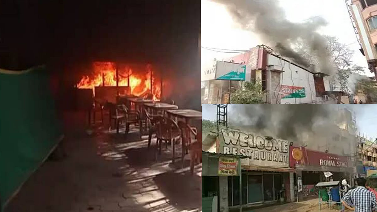 ग्वालियर में भयंकर आगजनी: अंग्रेजी-देशी शराब की दुकान में लगी आग, मचा हड़कंप