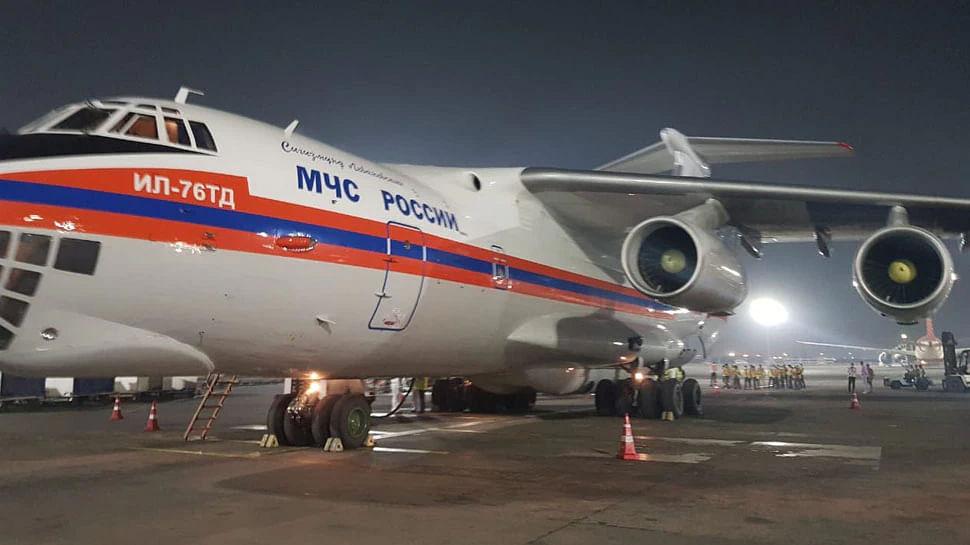 रूस ने किया वादा पूरा, सुरक्षित दिल्ली पहुंचे मेडिकल सप्लाई से भरे 2 विमान