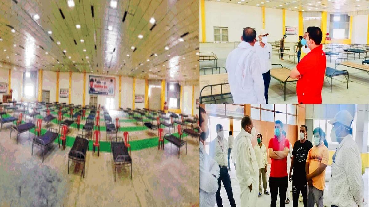 सिंधिया फाउंडेशन की पहल: ग्वालियर में तैयार किया 200 बेड का आइसोलेशन सेंटर