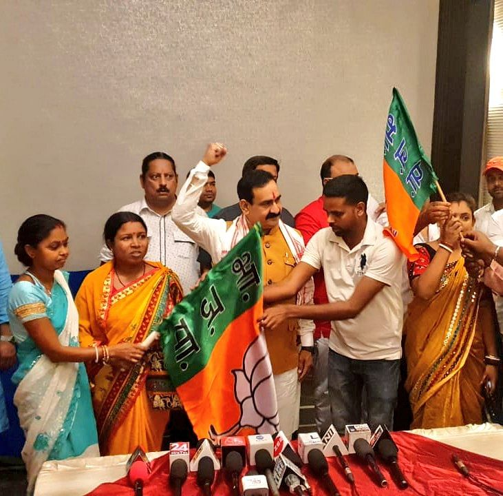 डॉ. नरोत्तम मिश्रा ने टीएमसी को पांडेश्वर विधानसभा में दिया बड़ा झटका