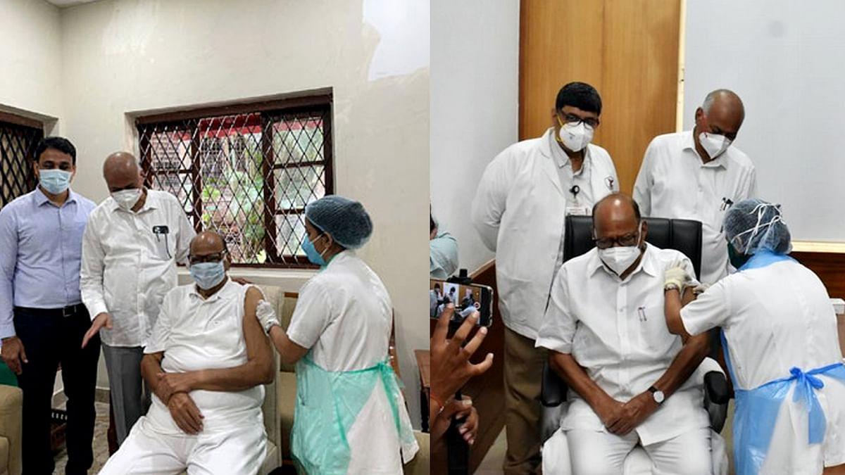 महाराष्ट्र में कोरोना के चिंताजनक हालात-शरद पवार ने ली वैक्सीन की दूसरी डोज