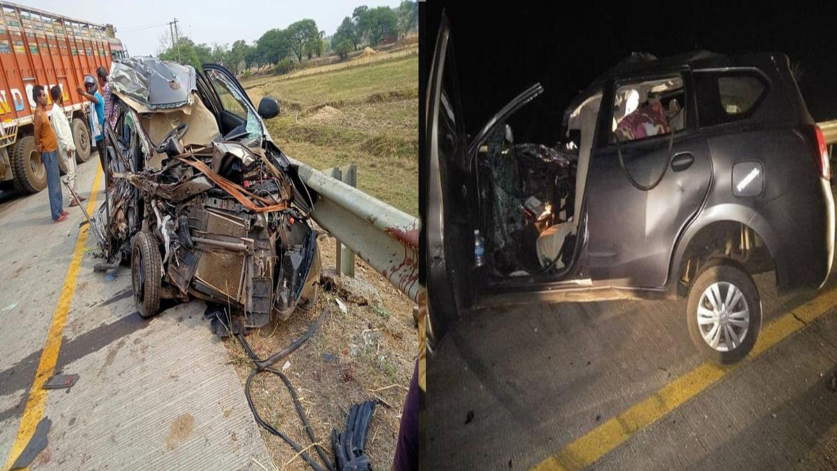 मंडला में सड़क हादसा: तेज रफ्तार ट्रक और कार की हुई जोरदार टक्कर, तीन की मौत