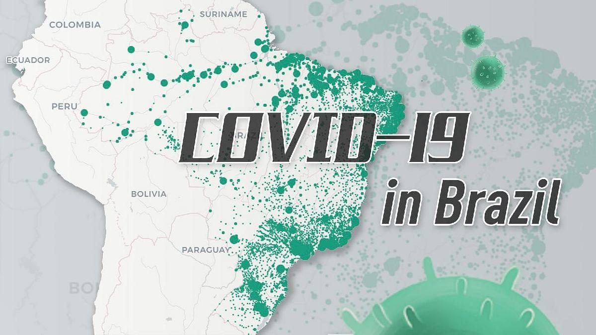 ब्राजील में एक दिन में कोरोना से चार हजार से अधिक लोगों की मौत