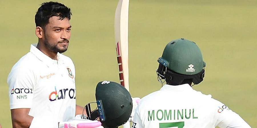 क्रिकेट : नजमुल हुसैन के नाबाद शतक से बांग्लादेश मजबूत