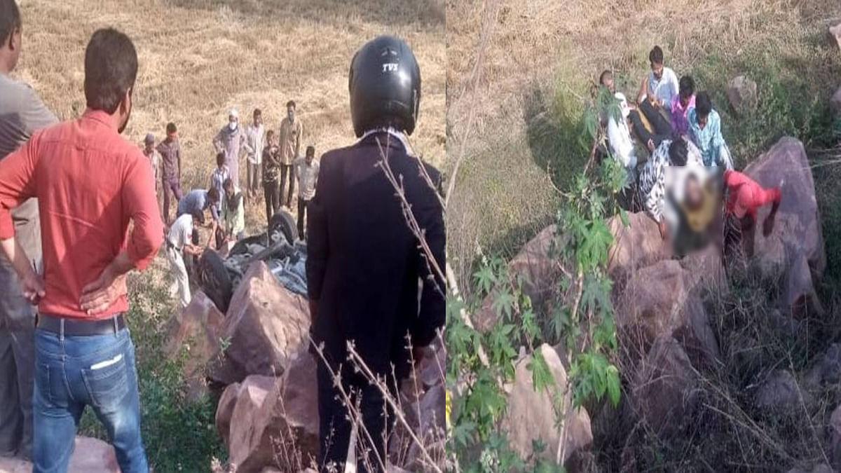 रायसेन में हुआ हादसा: अनियंत्रित कार खाई में जा गिरी, दुर्घटना में 3 की मौत