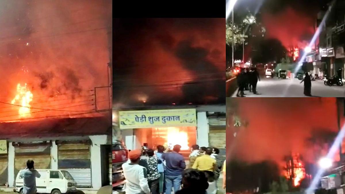 इंदौर समाचार: मालवा मिल के पास दुकानों में लगी भीषण आग, मचा हड़कंप