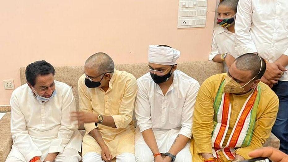 मुरैना: कमलनाथ ने रिंकू मावई के निवास पर पहुँचकर अर्पित की श्रद्धांजलि