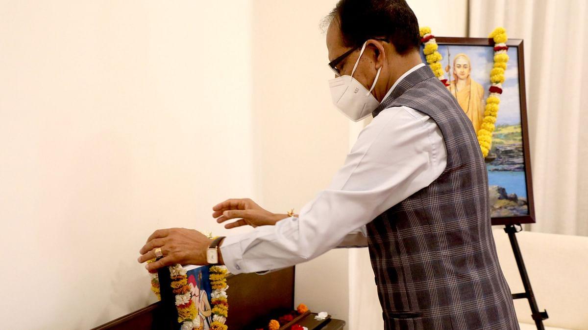 सीएम चौहान ने महाकवि सूरदास जी के चित्र पर किया माल्यार्पण, कही ये बात