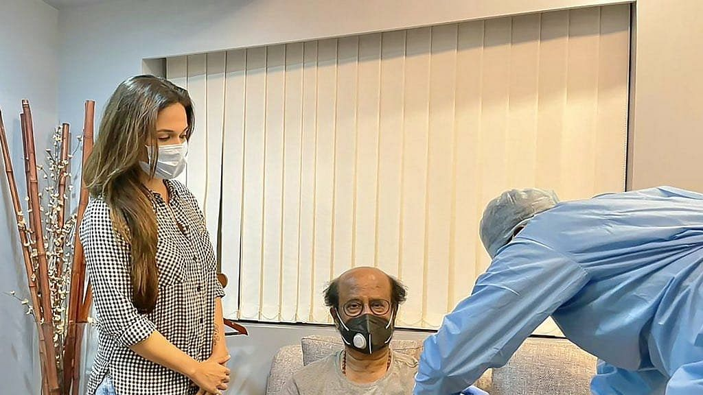 रजनीकांत ने लिया कोरोना वैक्सीन का दूसरा डोज, बेटी ने शेयर की तस्वीर