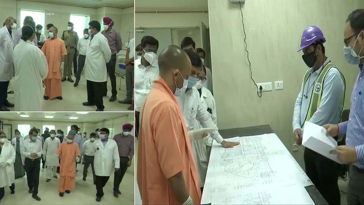 UP: गोरखपुर के एम्स में बने कोविड केयर सेंटर का CM योगी ने लिया जायजा