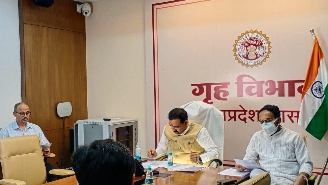 अनलॉक प्रक्रिया के लिए आयोजित मंत्री समूह की बैठक, शामिल हुए मंत्री मिश्रा