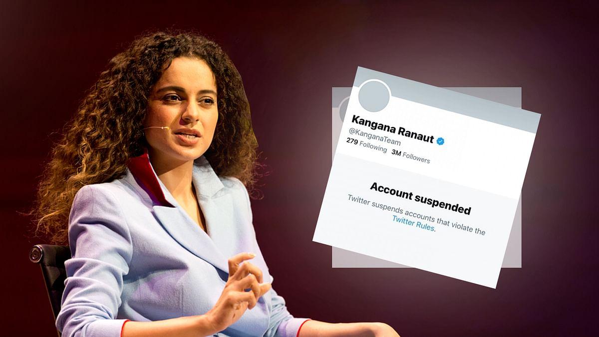 बंगाल हिंसा पर ट्वीट करने पर कंगना रनौत का ट्विटर अकाउंट सस्पेंड