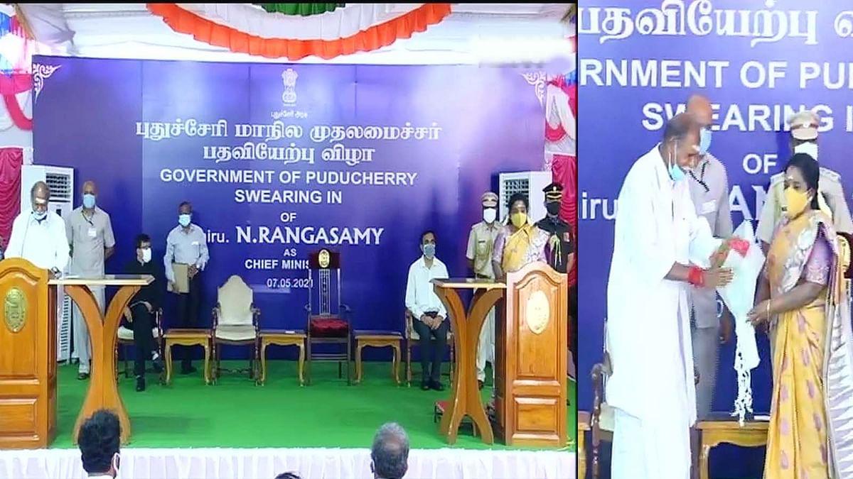 पुडुचेरी में एन.रंगासामी ने मुख्यमंत्री पद की शपथ ली