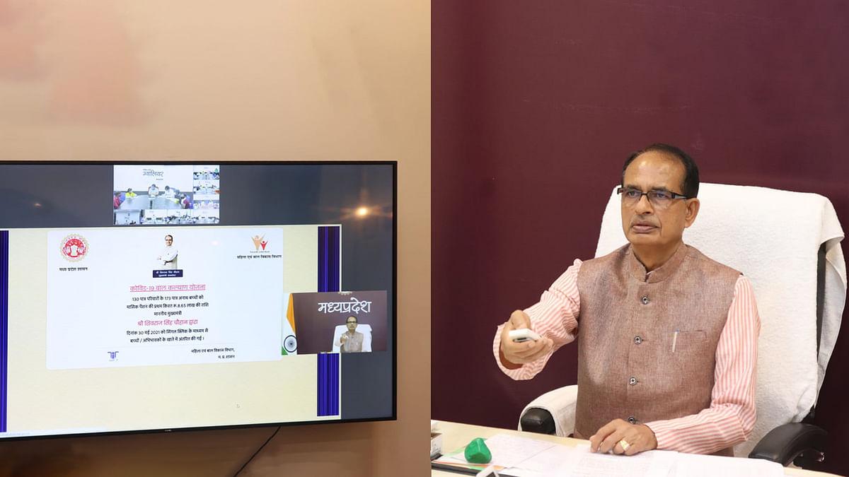 आज सीएम ने हितग्राही बच्चों को 8 लाख 65 हजार रुपये की पेंशन राशि वितरित की