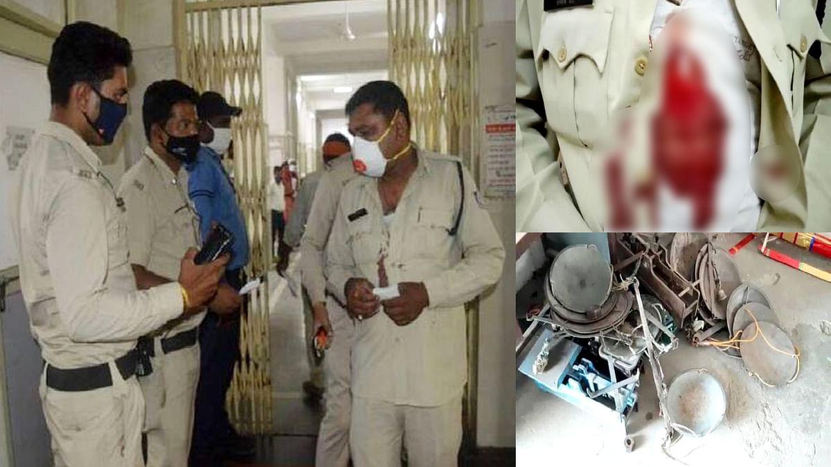 जबलपुर में चालान करने व तराजू जब्त करने पर कॉन्स्टेबल को मारा चाकू