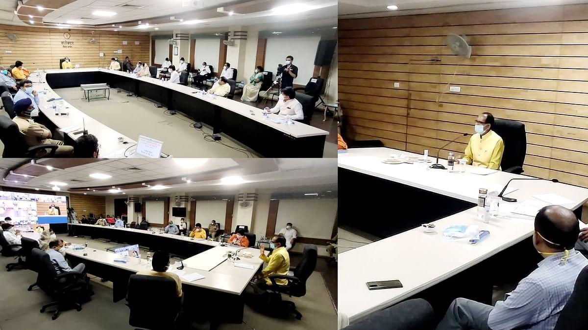 इंदौर: सीएम ने की समीक्षा बैठक, कोरोना नियंत्रण को लेकर अफसरों से की चर्चा