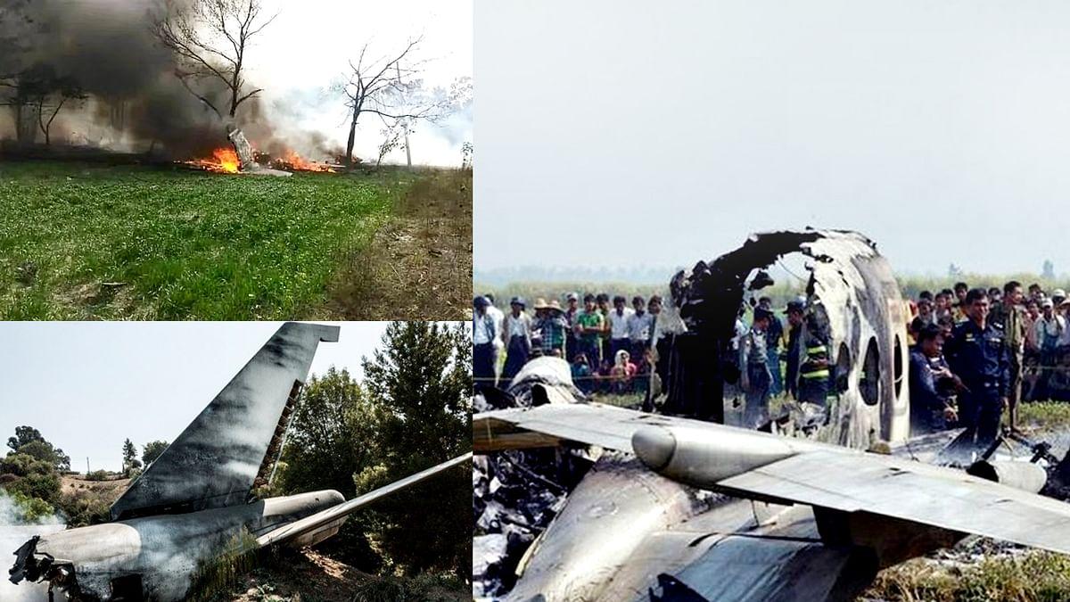 म्यांमार से सेना का एक विमान क्रैश, 12 लोगों की मौत