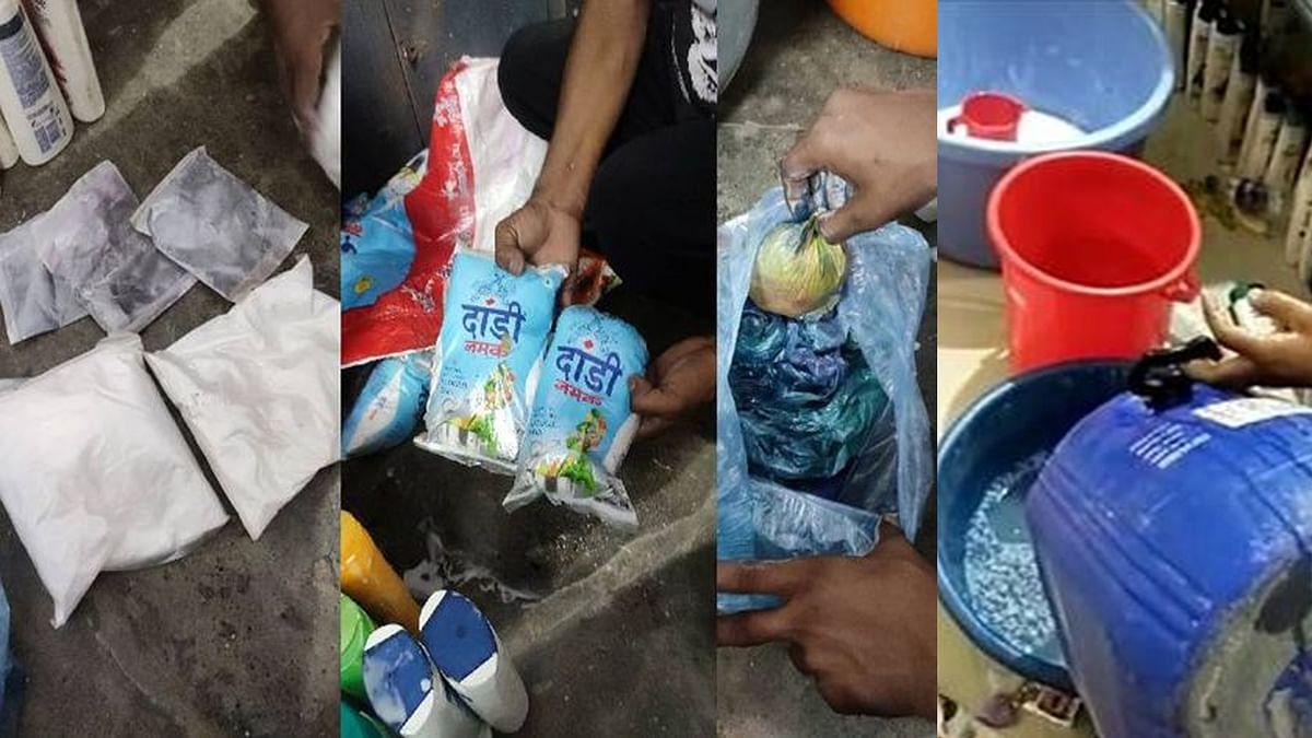 पुलिस ने नकली शैंपू के कारोबार का भंडाफोड़ कर 7 आरोपियों को किया गिरफ्तार