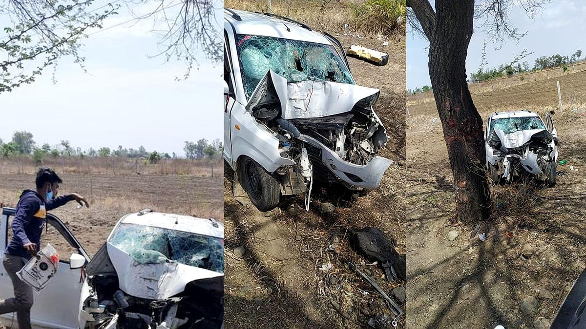 भोपाल सड़क हादसा: तेज रफ्तार कार अनियंत्रित होकर पेड़ से टकराई, 4 की मौत