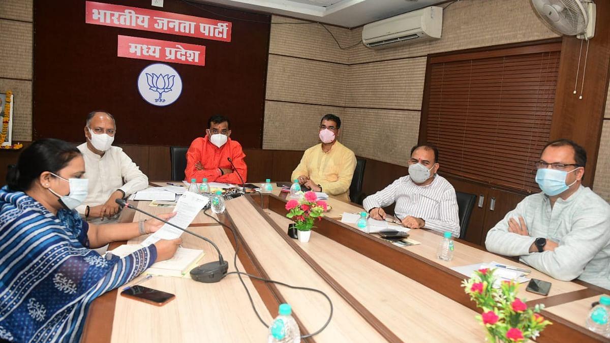 BJP ऑफिस में पार्टी अधिकारियों की बैठक, आगामी कार्यक्रमों को लेकर की चर्चा